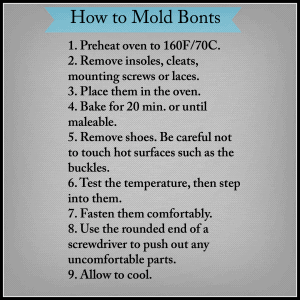 How to mold Bont cycling shoes