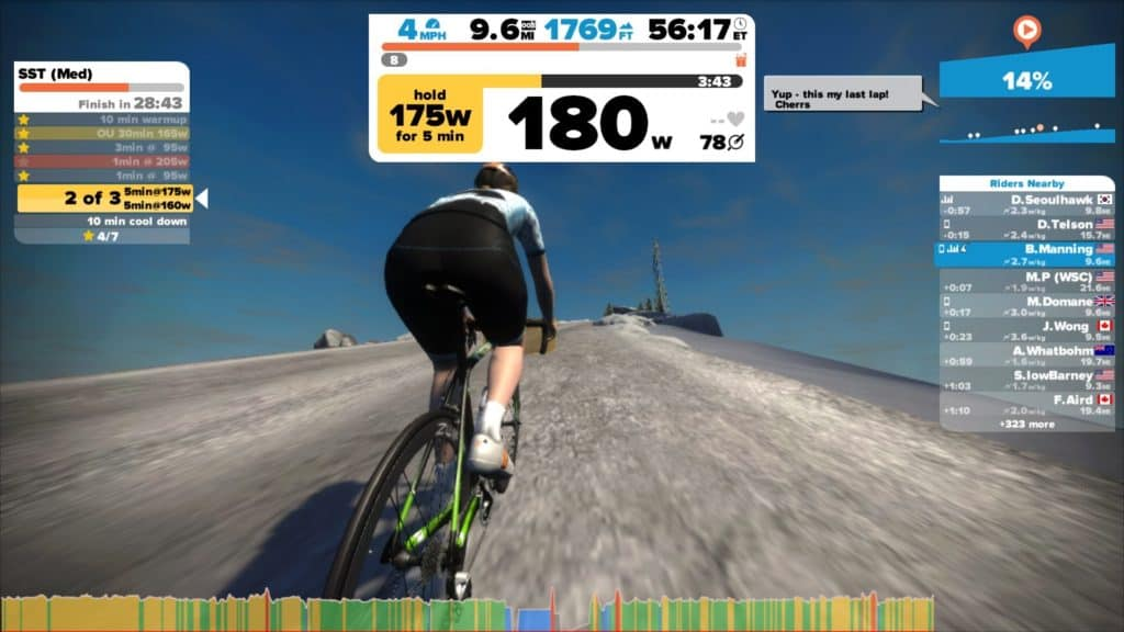 zwift tower