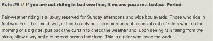 bike ride in rain quotes