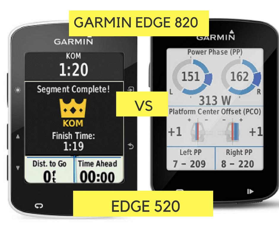 Garmin 520 vs 820
